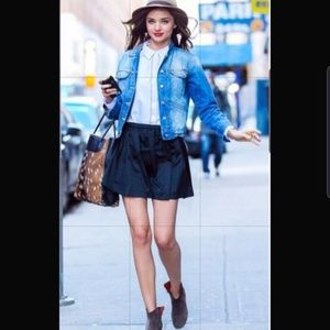 Madewell Denim A-line Mini Skirt